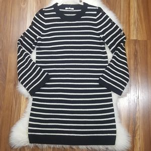 Madewell Merino Wool Blend Striped Sweater Dress S